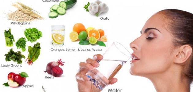 طريقة تنظيف الجسم من السموم